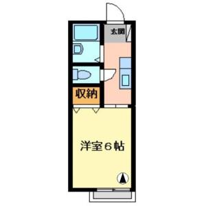 1K Apartment in Narusegaoka - Machida-shi Floorplan