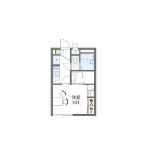 横濱市港北區高田西-1K公寓 房間格局
