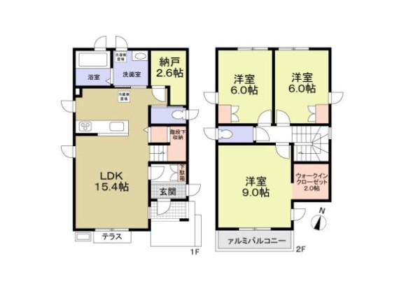 3SLDK House to Rent in Nerima-ku Floorplan