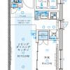 1LDK Apartment to Rent in Kawaguchi-shi Floorplan