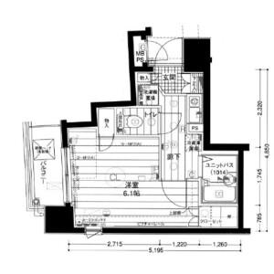 1K Mansion in Nihombashihakozakicho - Chuo-ku Floorplan