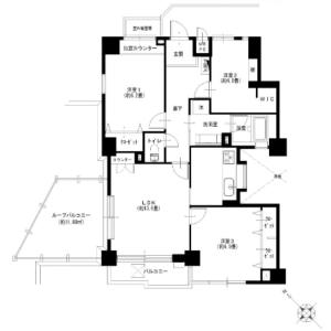 3LDK {building type} in Minamikaruizawa - Yokohama-shi Nishi-ku Floorplan