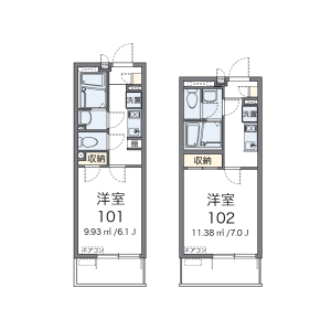 1K Mansion in Tonomachi - Kawasaki-shi Kawasaki-ku Floorplan