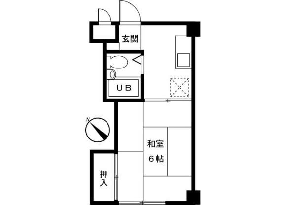 在町田市內租賃1K 公寓大廈 的房產 房間格局