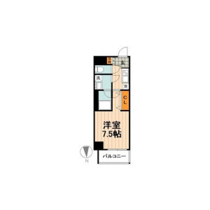 1K Mansion in Matsugaya - Taito-ku Floorplan