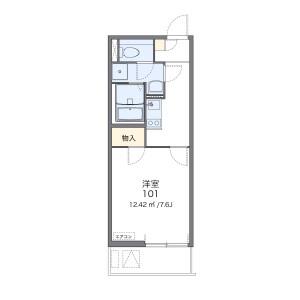 埼玉市南區南浦和-1K公寓大廈 房間格局