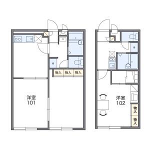 枚方市宮之阪-1K公寓大廈 房間格局