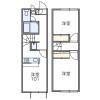 2DK Apartment to Rent in Dazaifu-shi Floorplan