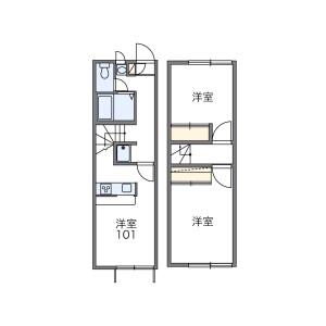2DK Apartment in Mukaizano - Dazaifu-shi Floorplan