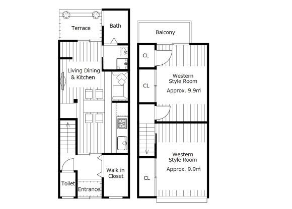 2LDK House to Buy in Kyoto-shi Fushimi-ku Floorplan