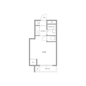 1R Mansion in Sakuragaokacho - Shibuya-ku Floorplan