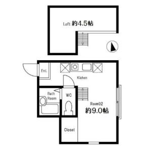 1R Apartment in Higashikubocho - Yokohama-shi Nishi-ku Floorplan