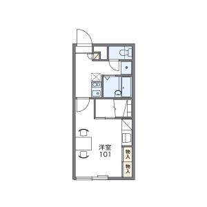 札幌市中央区 南九条西 1K アパート 間取り
