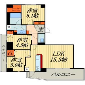 埼玉市浦和區北浦和-3LDK公寓大廈 房間格局