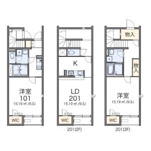 1LDK Apartment in Odai - Adachi-ku Floorplan