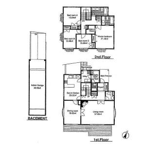 4LDK House in Denenchofu - Ota-ku Floorplan
