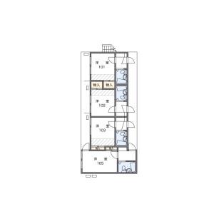 1K Apartment in Wada - Fukuoka-shi Minami-ku Floorplan
