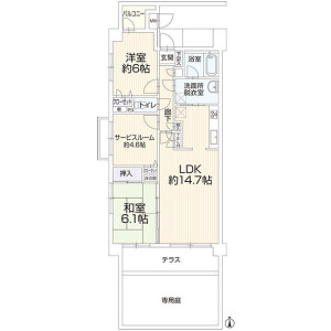 2SLDK Apartment in Nippacho - Yokohama-shi Kohoku-ku Floorplan