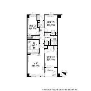 3LDK Apartment in Sasazuka - Shibuya-ku Floorplan