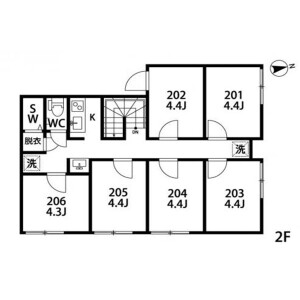 T-21【Hachimanyama】STEP CLOUD - Guest House in Setagaya-ku Floorplan