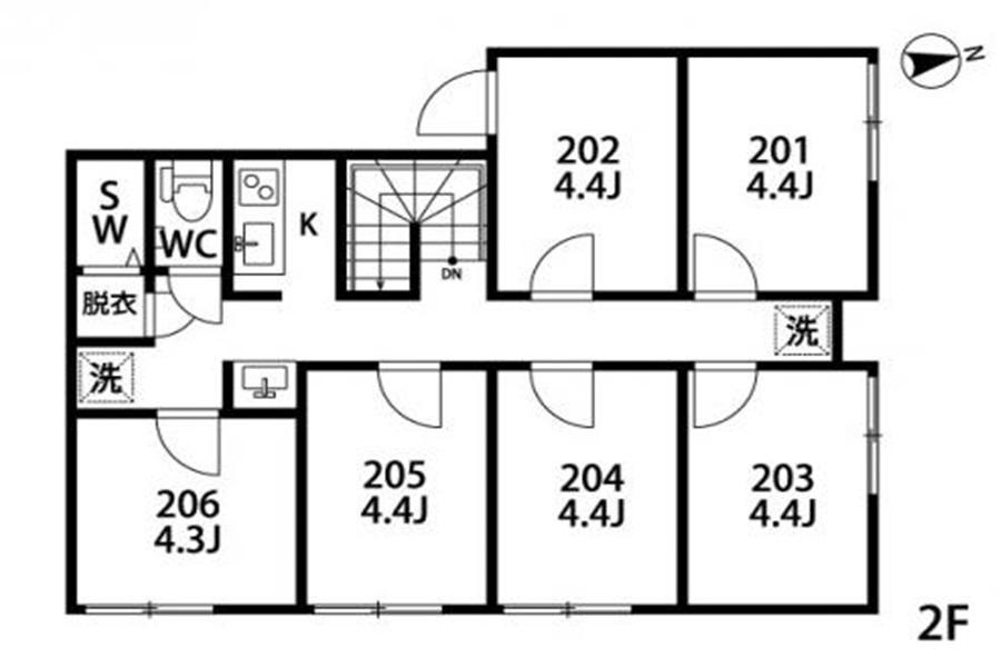 Private Guesthouse to Rent in Setagaya-ku Floorplan