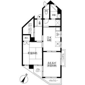 2DK Mansion in Yutakacho - Shinagawa-ku Floorplan