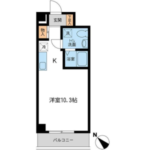 1R Apartment in Shinyokohama - Yokohama-shi Kohoku-ku Floorplan