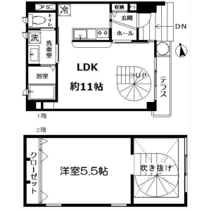 1LDK Mansion in Daizawa - Setagaya-ku Floorplan