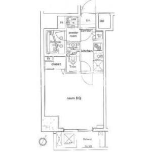 1K Mansion in Shiba(1-3-chome) - Minato-ku Floorplan