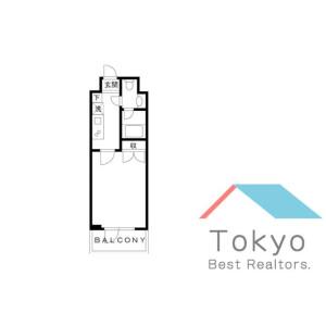 港區浜松町-1K公寓大廈 房間格局