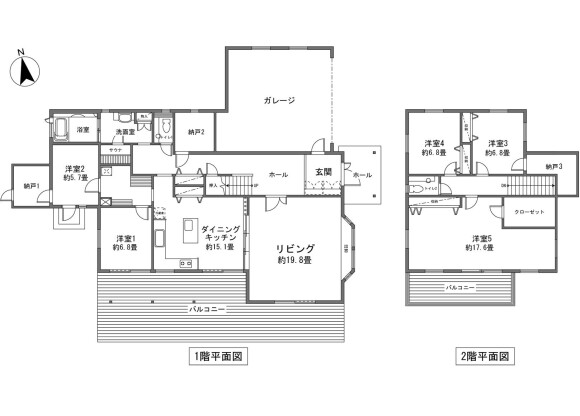 5LDK House to Buy in Minamitsuru-gun Narusawa-mura Floorplan