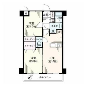 2LDK {building type} in Hiranuma - Yokohama-shi Nishi-ku Floorplan