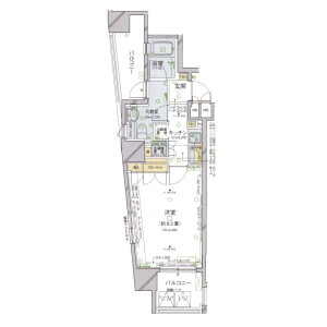 1K Mansion in Kojimachi - Chiyoda-ku Floorplan