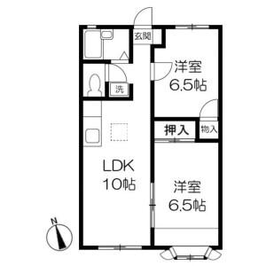 2LDK Apartment in Nakabyodai - Abiko-shi Floorplan
