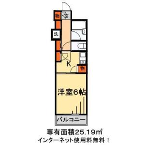 1K Mansion in Kitakokubun - Ichikawa-shi Floorplan
