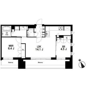 2LDK Mansion in Higashiyama - Meguro-ku Floorplan