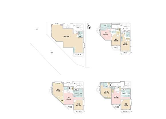 在板桥区购买楼房(整栋) 公寓的 楼层布局