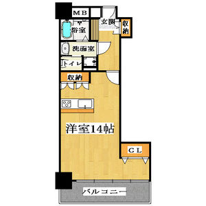 1K Mansion in Jusohigashi - Osaka-shi Yodogawa-ku Floorplan