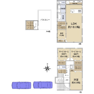 1LDK {building type} in Danjocho - Nishinomiya-shi Floorplan