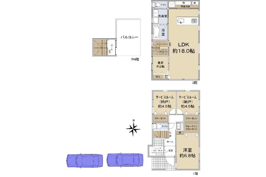 1LDK House to Buy in Nishinomiya-shi Floorplan