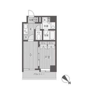 1DK Apartment in Higashi - Shibuya-ku Floorplan