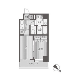 1DK 맨션 in Higashi - Shibuya-ku Floorplan