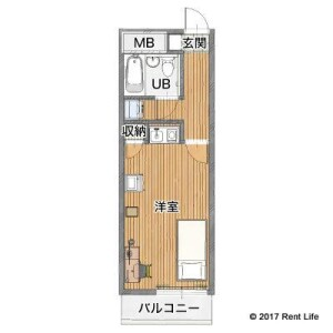 1R Apartment in Mamedocho - Yokohama-shi Kohoku-ku Floorplan