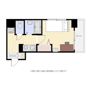 1K Mansion in Katamachi - Shinjuku-ku Floorplan