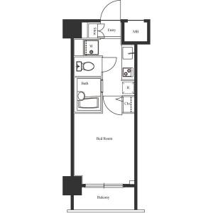 1K Mansion in Dogenzaka - Shibuya-ku Floorplan