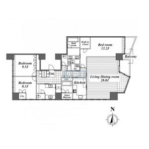 3LDK Mansion in Sambancho - Chiyoda-ku Floorplan