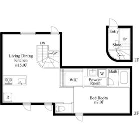 1LDK Mansion in Miyoshi - Koto-ku Floorplan