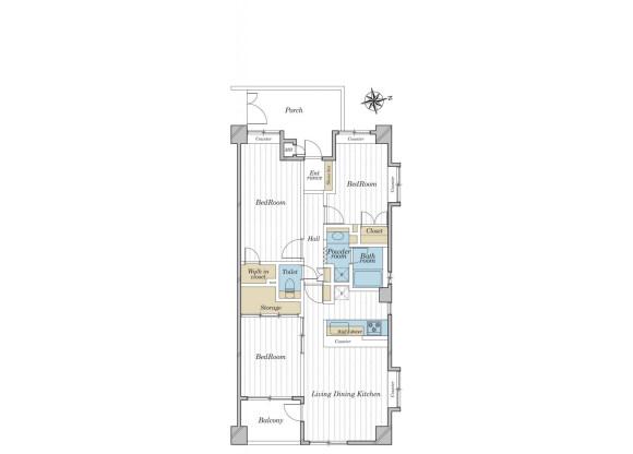3LDK Apartment to Buy in Nakano-ku Floorplan