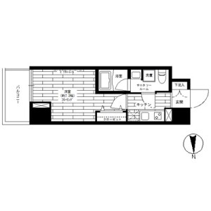 1K Mansion in Taito - Taito-ku Floorplan
