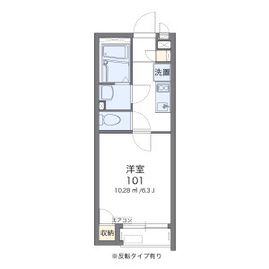 1K Apartment in Kamiikedai - Ota-ku Floorplan